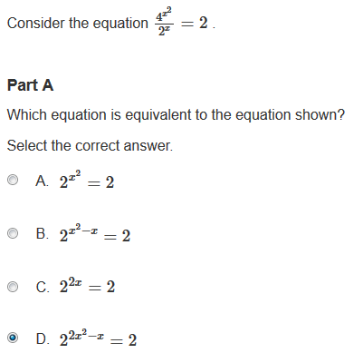 Observations on the PARCC sample Algebra II exam | The Number Warrior